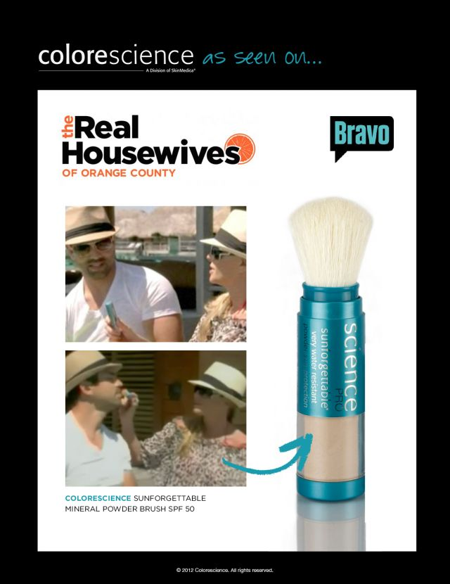Colorescience featured on an episode of the real houswives of orange county