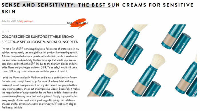 The best sunscreens for sensitive skin featuring colorescience